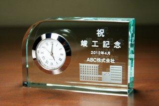 【GLASS CLOCK】置き時計 ガラス時計(ガラス製)・YOB073