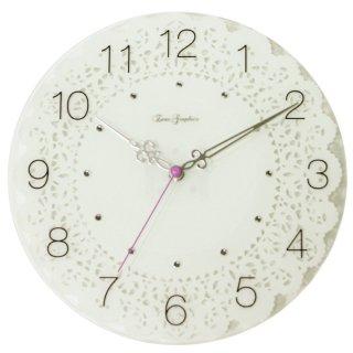 【スターライン】掛け時計ガラスレースクロック(ホワイト)・ZWG-1130WT