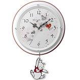 【Disney】掛け時計振子時・カッコークロック振り子時計/くまのプーさん(白パール色(白))・8MX407MC03