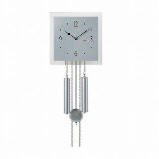 【AMS】掛け時計 (シルバー)・AMS354
