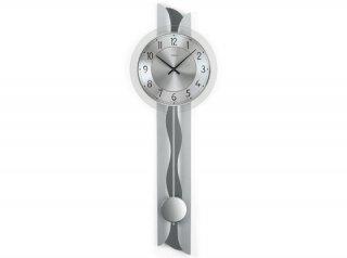 【AMS】掛け時計 (シルバー)・AMS7216