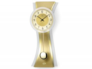 【AMS】掛け時計 (ゴールド)・AMS7267