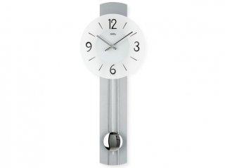 【AMS】掛け時計 (シルバー)・AMS7275