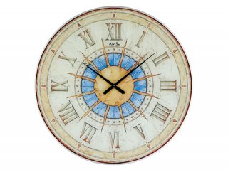 【AMS】掛け時計 (ホワイト)・AMS9230