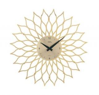 【AMS】掛け時計 (ゴールド)・AMS9359