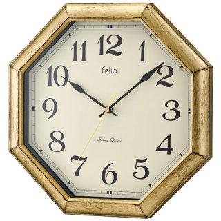 【Felio】電波掛け時計 プレミアムクロック ロートレック(ゴールド)・FEW179-GD