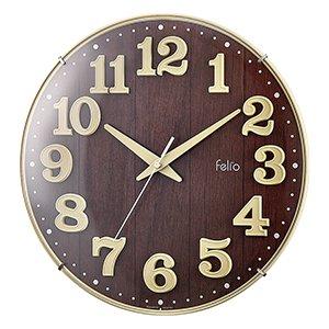 【Felio】掛け時計 カラーズ ブリュレ(アイボリー)・FEW181IV-Z