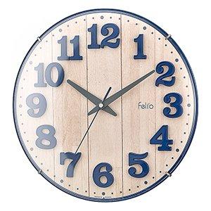 【Felio】掛け時計 カラーズ ブリュレ(ネイビーブルー)・FEW181NB-Z