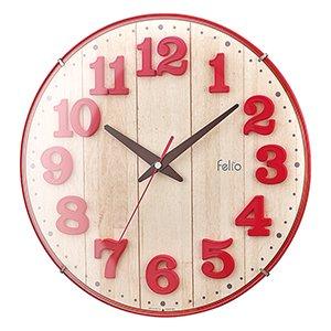 【Felio】掛け時計 カラーズ ブリュレ(レッド)・FEW181R-Z