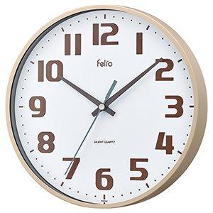 【Felio】掛け時計 カラーズ チュロス(アイボリー)・FEW182IV-Z