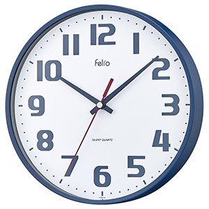 【Felio】掛け時計 カラーズ チュロス(ネイビーブルー)・FEW182NB-Z