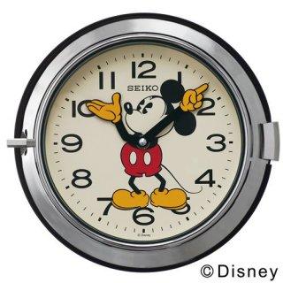 【SEIKO】掛け時計 ミッキーマウス アナログ 防塵型 金属枠 大人ディズニー(シルバー)