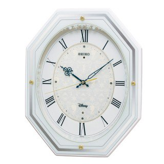 【SEIKO】掛け時計 大人ディズニー(白塗装光沢仕上げ)・FS505W