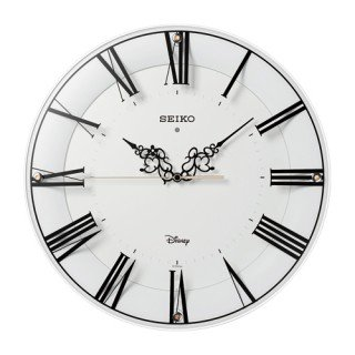 【SEIKO】掛け時計 大人ディズニー(白塗装)・FS506W