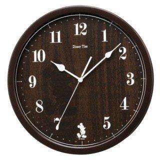 【SEIKO】大人ディズニー 掛け時計 ミッキー&フレンズ(濃茶塗装)・FW577B