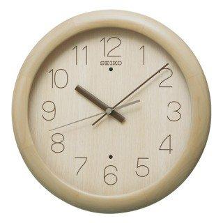 【SEIKO】掛け時計 スタンダード(薄茶木地塗装)・KX201A
