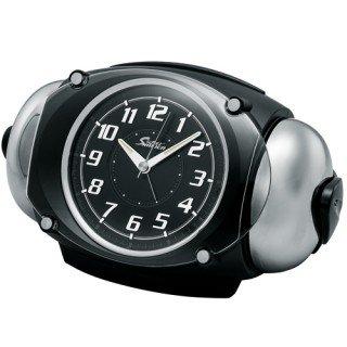 【PYXIS】目覚まし時計 ライデン(黒メタリック塗装)・NR438K