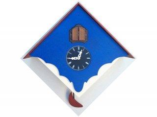 【ピロンディーニ(Pirondini)】鳩時計 CUCU' CHALET(ブルー)・PR-103BL
