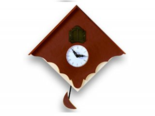 【ピロンディーニ(Pirondini)】鳩時計 CUCU' CHALET(ブラウン)・PR-103BN