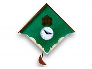 【ピロンディーニ(Pirondini)】鳩時計 CUCU' CHALET(グリーン)・PR-103GN
