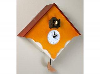 【ピロンディーニ(Pirondini)】鳩時計 CUCU' CHALET(イエロー)・PR-103YE