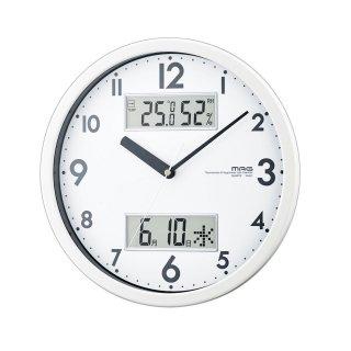 【MAG】温湿時計 温湿時計 ダブルメジャー(ホワイト)