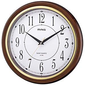 【MAG】掛け時計 スタンダードクロック モアマグ(ブラウン)・W-648BR-Z