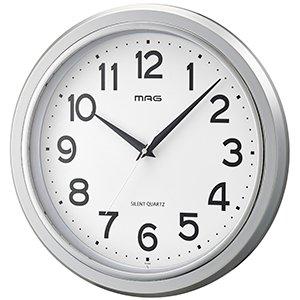 【MAG】掛け時計 スタンダードクロック モアマグ(銀メタリック)・W-648SM-Z