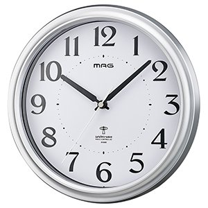 【MAG】電波掛け時計 アナログ掛け時計 アストル(ホワイト)・W-649SM-Z