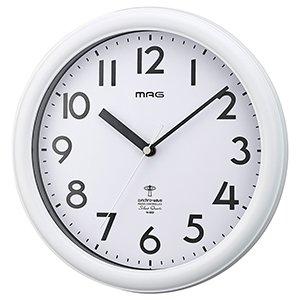 【MAG】電波掛け時計 アナログ掛け時計 カプタイン(ホワイト)・W-650WH-Z