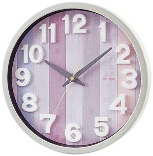 【rimlex】電波時計 インテリアクロック ナタリー(ピンク)・W-658PK-Z