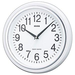 【MAG】掛け時計 スタンダードクロック 白マグ(ホワイト)・W-663WH-Z