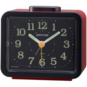 【RHYTHM】目覚まし時計その他特長商品ジャプレSR859(赤(黒))・4RA859SR01
