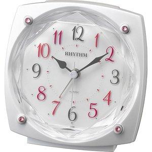 【RHYTHM】目覚まし時計スタンダードソプラノR659(白パール色(白))・8RE659SR03