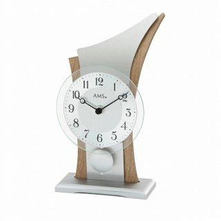 【AMS】置き時計 (シルバー)・AMS1139