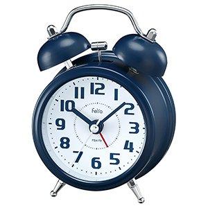 【Felio】置き時計 カラーズ タルト(ネイビーブルー)・FEA170NB-Z