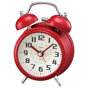 【Felio】置き時計 カラーズ タルト(レッド)