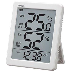 【MAG】温湿計 温湿計 エアサーチノーティス(ホワイト)・N-026WH
