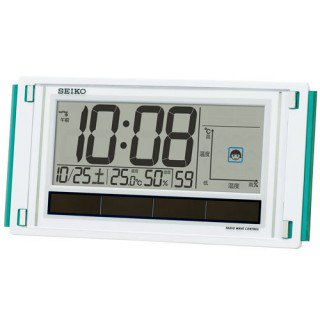 【SEIKO】デジタル時計 快適環境NAVI(白パール塗装)・SQ436W