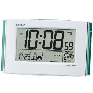 【SEIKO】デジタル時計 快適環境NAVI(白パール塗装)・SQ776W
