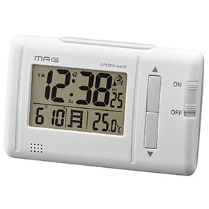 【MAG】電波時計 デジタル時計 ファルツ(ホワイト)・T-692WH-Z