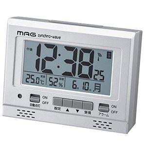 【MAG】目覚まし時計 デジタル時計 エアサーチグッドライト(銀メタリック)・T-694SM-Z