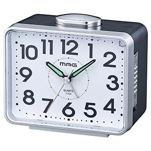 【MAG】目覚まし時計 ベル音目覚まし時計 ベル太郎(銀メタリック)・T-704SM-Z