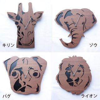 【ヤマト工芸】掛け時計realanimalclock(ゾウ)・YK15-101Elephant