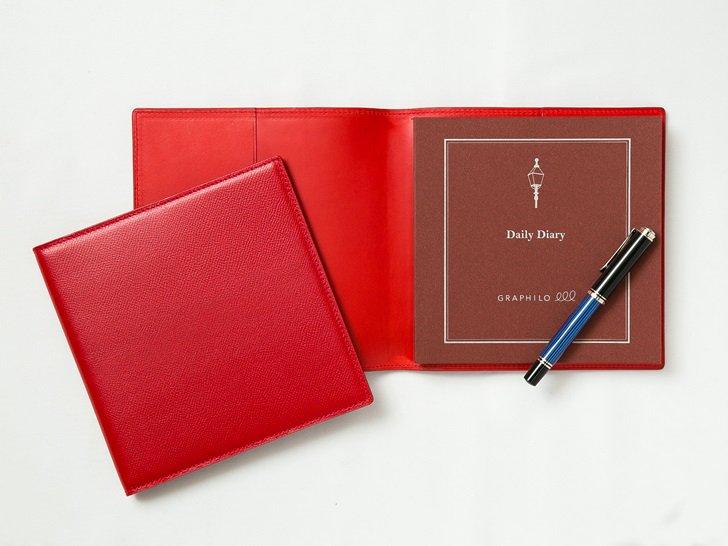 OUDE 正方形革カバー|シングルタイプ|ノブレッサカーフ・レッド