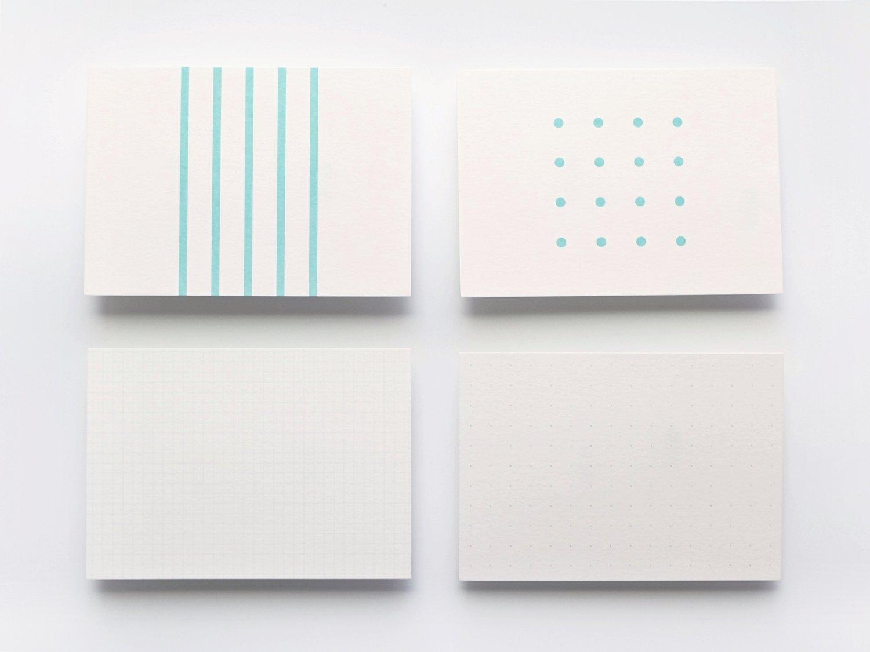 神戸派カード A6(20枚)|ストライプ柄