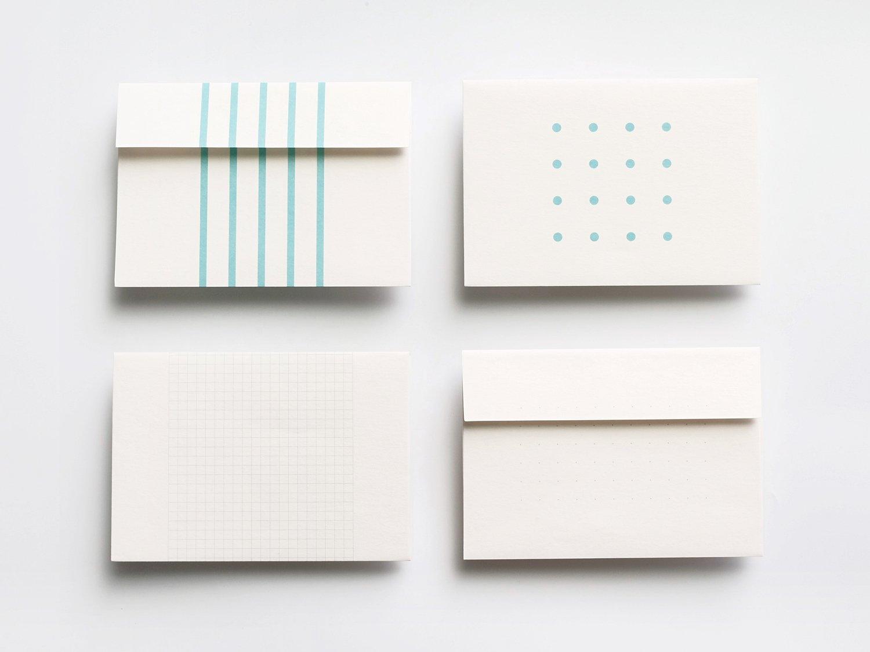 神戸派封筒 洋2(5枚入り)|ストライプ柄
