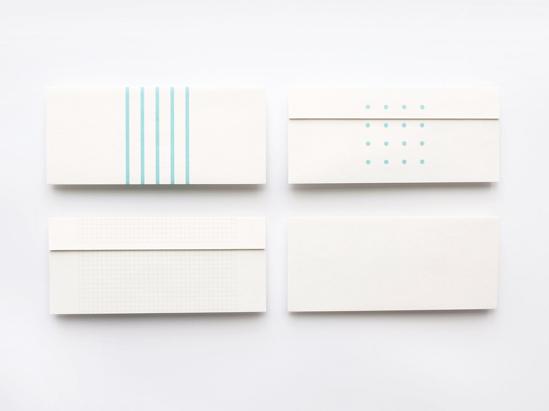 神戸派封筒 洋4(5枚)|ストライプ柄
