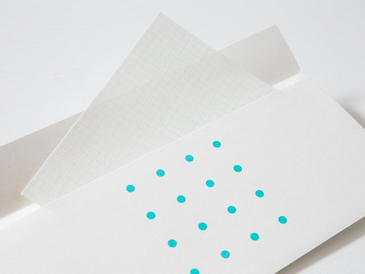 神戸派封筒 洋4(5枚)|ドット柄