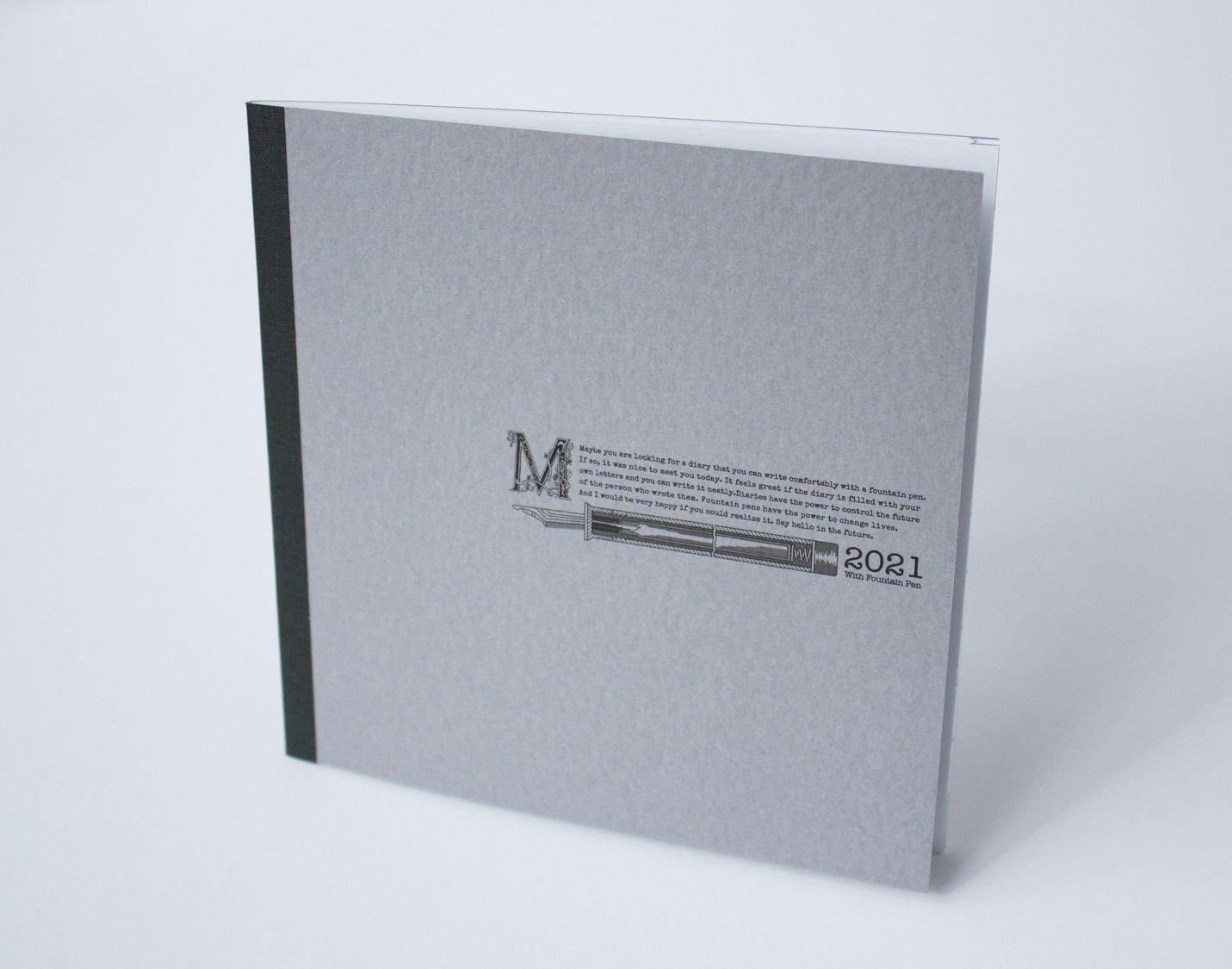 正方形ダイアリー2021|マンスリー(見開き1ヶ月)